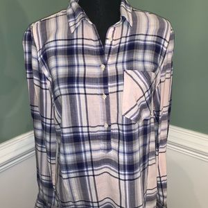Flannel Botton-down Top from Merona